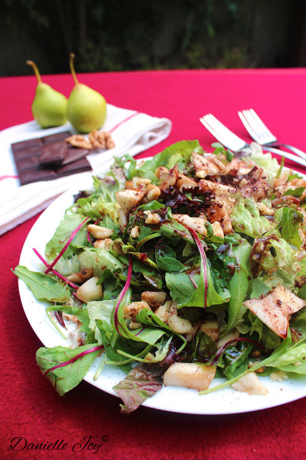 Rucola-Peer Salade met Chocolade Vinaigrette 2