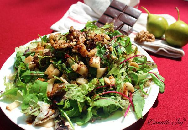 Rucola-Peer Salade met Chocolade Vinaigrette 3