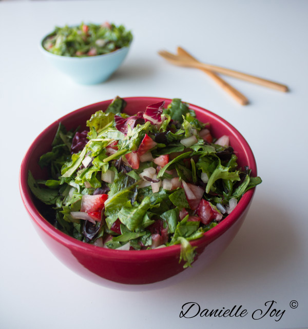 Aardbeien Salade met Sinaasappel Dressing