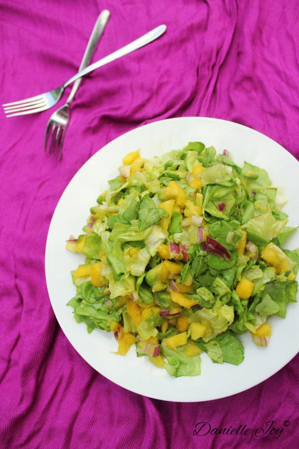 Mango-Avocado Salade Zonder Dressing