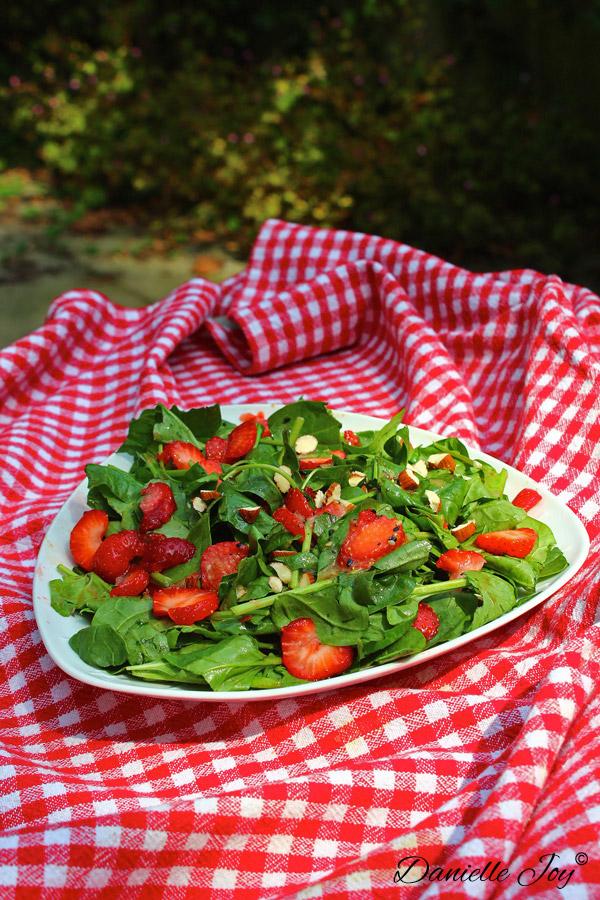 Aardbeien-Spinazie Salade 2