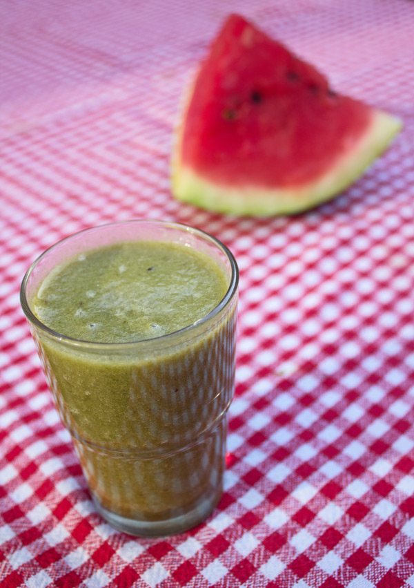 Watermeloen-Ananas Groene Smoothie